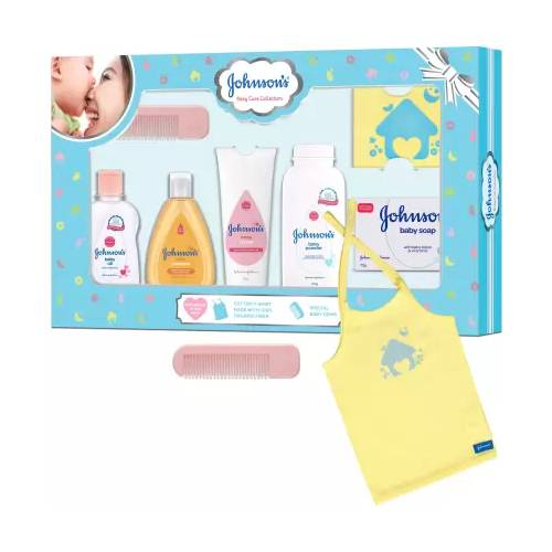 johnsons-baby-care-collection-gift-set-with-organic-cotton-t-shirt-7-pieces-multicolor
